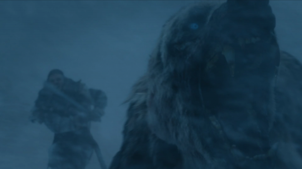 bear game of thrones beyond the wall