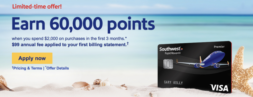 southwest credit card premier