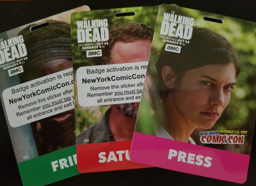 New York Comic Con badges