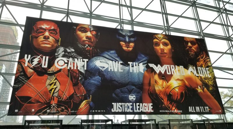 justice league nycc new york comic con banner
