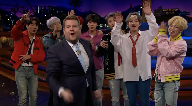 BTS at 'The Late Late Show with James Corden.' Source: CBS.