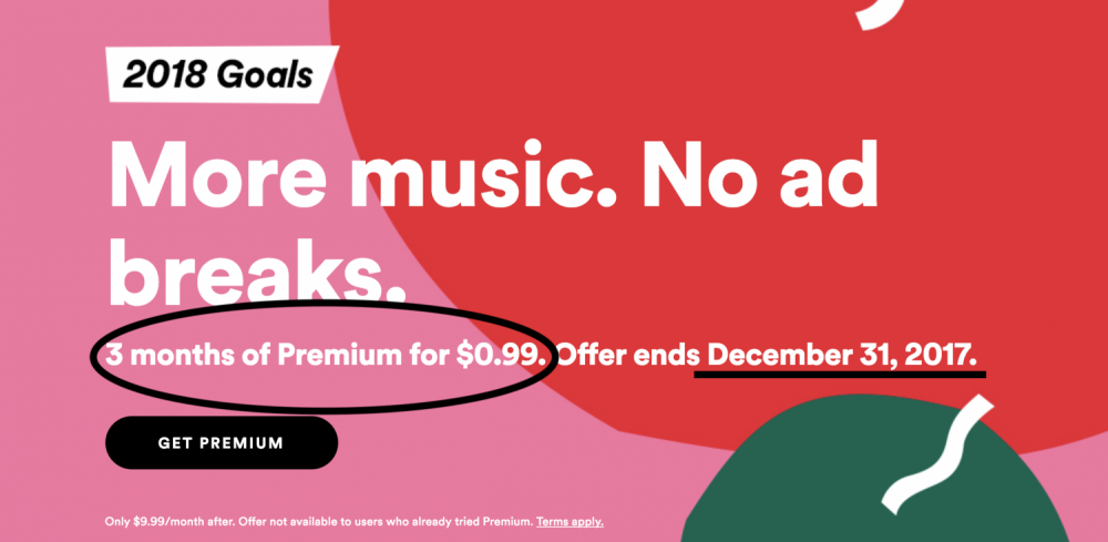 Deal Get 3 Months Of Spotify Premium For 099